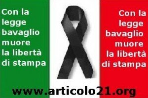 legge bavaglio, italia in lutto