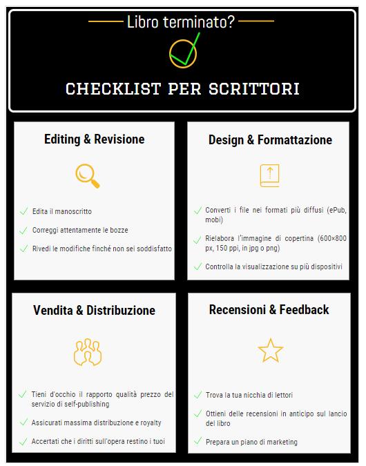 author checklist | Guide Self Publishing e scrittura online - Storia Continua