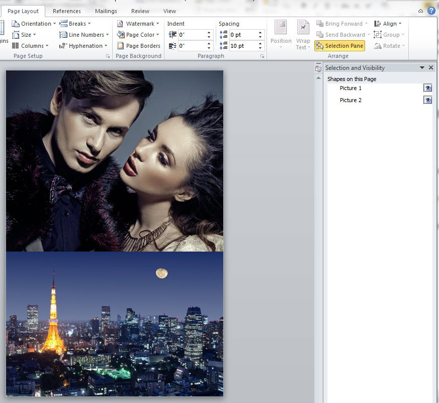 Ms Word cover