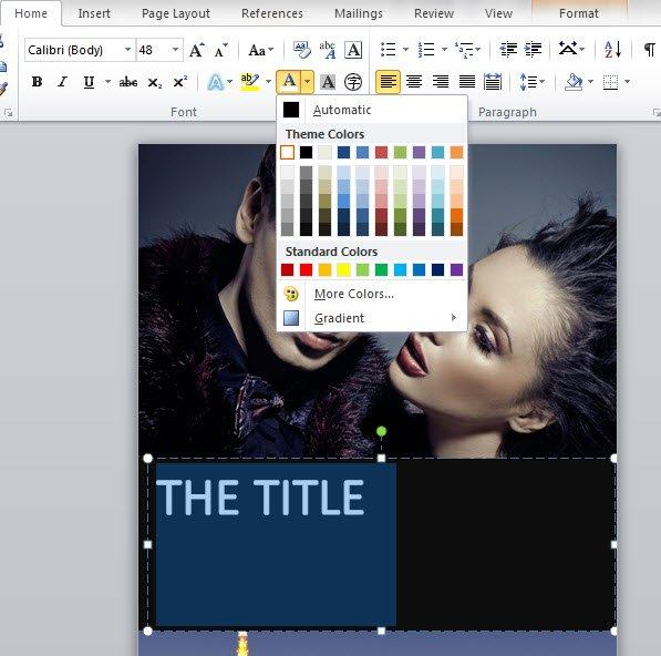Creare la copertina di un libro con word storia continua for Che programma usare per scrivere un libro