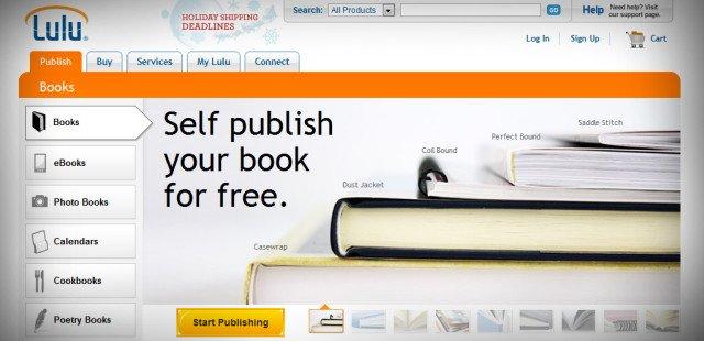 self publishing and merchandise lulu   Guide Self Publishing e scrittura online - Storia Continua