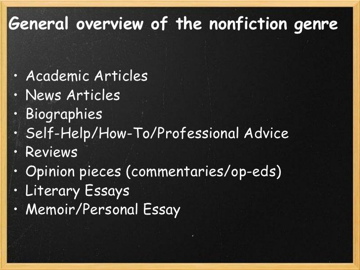 categories of nonfiction creative nonfiction lesson 2 3 728   Guide Self Publishing e scrittura online - Storia Continua