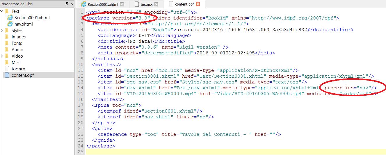 epub3 metadata