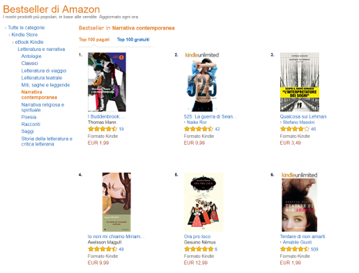 Classifica di Amazon per il genere Narrativa Generale