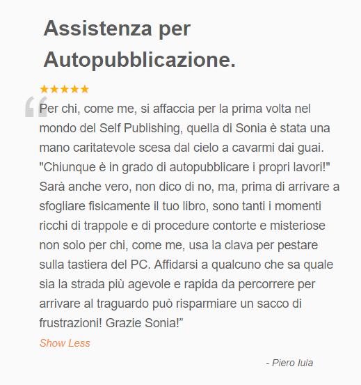 L'opinione dell'autore sui servizi di editing